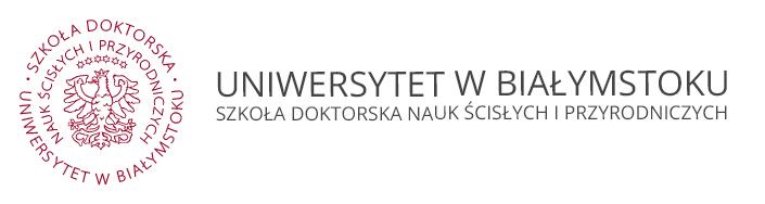 Logo for Szkoła Doktorska Nauk Ścisłych i Przyrodniczych UwB